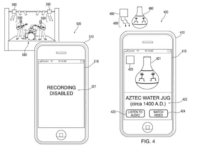 Apple Patent Konzerte Mussen Infrarot Daten