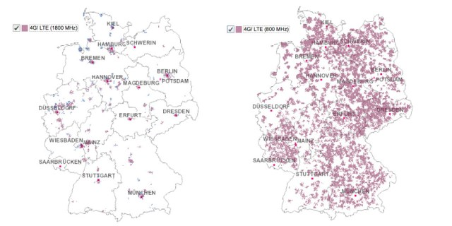 Deutsche Telekom LTE Netzabdeckung September 2012