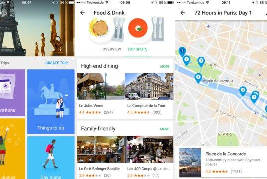 Reiseplanung mit Google Trips