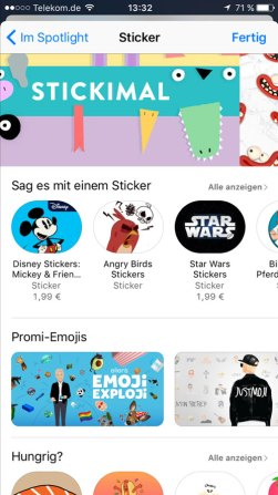 iMessage Sticker App