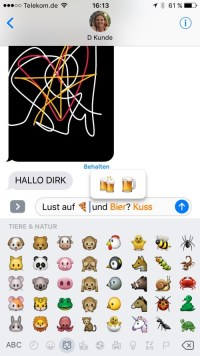 Emoji iOS 10 Nachrichten