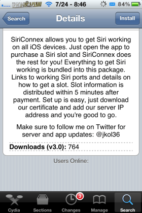 siriconexinfo 280x420 Add Siri To iPhone, iPod, iPad With SiriConneX