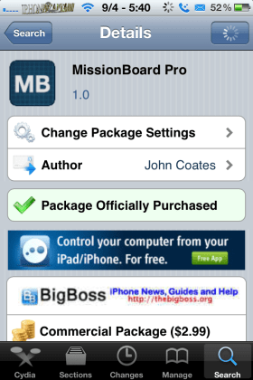 missionboardpro 280x420 Awesome Updated Tweak For Multitasking & More:MissionBoard Pro($2.99)