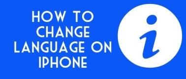 how to change language on iphone