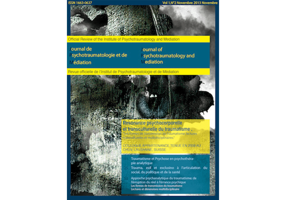 Journal of Psychotraumatology and Mediation (JPM)