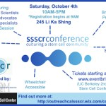 Berkeley SSSCR Stem Cell Conference Oct. 4: Culturing a Stem Cell Community