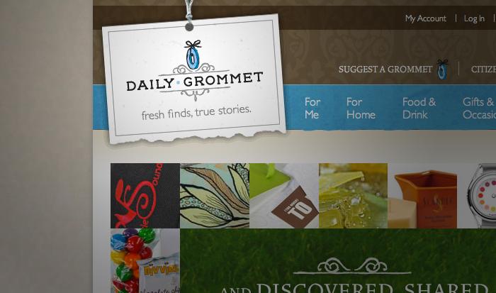 Daily Grommet website detail