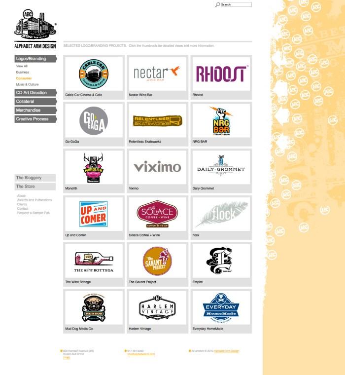 Alphabet Arm Design category page
