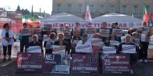 Hungerstrejk, protest mot massavrättningar i Iran