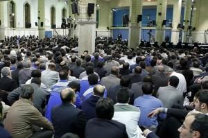 Iranian Labors meeting with Supreme Leader, Ayatollah Khamenei on April 27, ahead of Labors' Day. (Photo Credit: Khamenei.ir)
