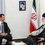 Iranian supreme leader Ayatollah Khamenei talks with Syrian President Assad during a meeting on August 19, 2009. (Photo Credit: Khamenei.ir)