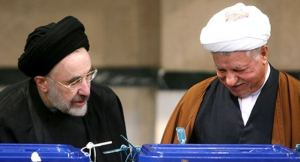 Mohammad Khatami (left) - Akbar Hashemi Rafsanjani (Right) - (Photo Credit: Fars News Agency)