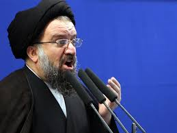 Ayatollah Khatami the Tehran's Friday Prayer Leader.