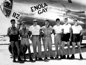 """Enola Gay detonated an atomic bomb named """"Little Boy"""" over the Japanese city of Hiroshima. The direct and the indirect death toll caused by this bombardment are estimated to exceed 140,000"""