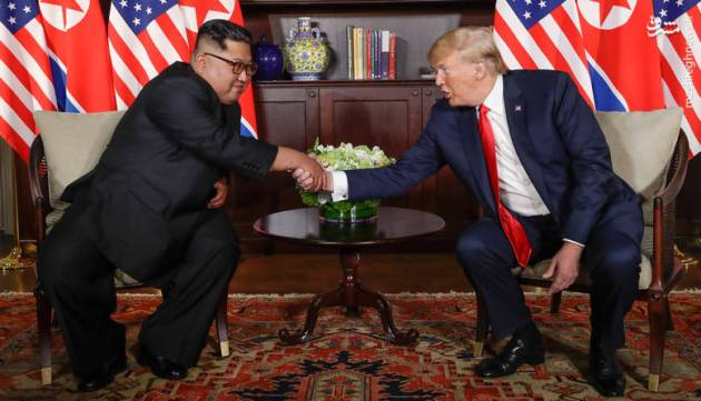 U.S. President Donald Trump and North Korean leader Kim Jong Un met face-to-face on Tuesday 12 June in Singapore. This photo shows a red Persian rug laid in the room.