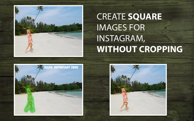 Create square photos for Instagram without cropping