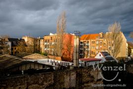 Wetterkapriolen - erst Regenbogen, dann Unwetter über Buckau