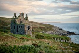 Ruine von Dunskey Castle – schottische Westküste