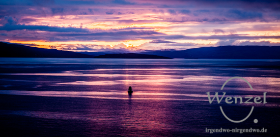 Sonnenuntergang in Kyleakin /  Isle of Skye