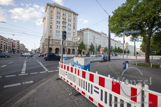 Baustelle City-Tunnel Magdeburg //  Ernst-Reuter-Allee