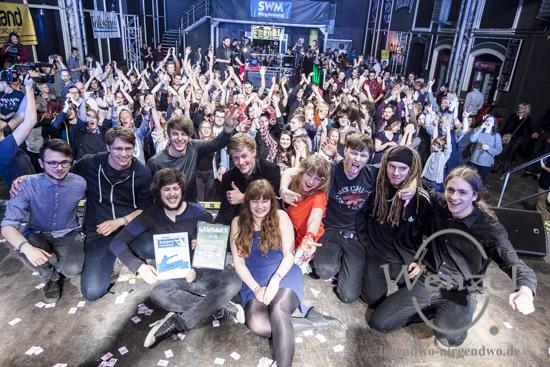 Gewinner des TalentVerstärker 2015 -  CHIVRE (Jury) und Anspielung (Publikum)