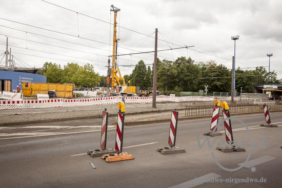Baustelle City-Tunnel  –  Bohrarbeiten am Centralen Omnibus Bahnhof