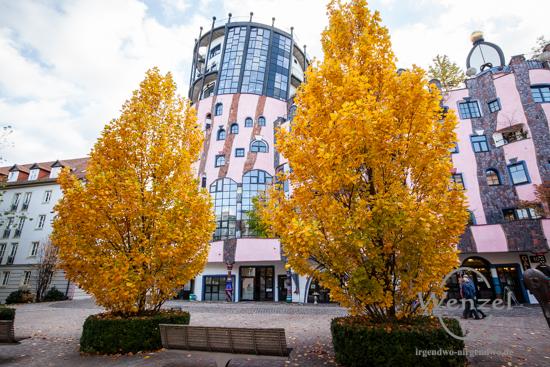 Magdeburg im Herbst -  Grüne Zitadelle
