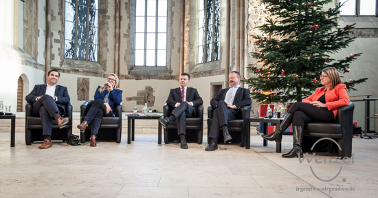 Frank Sitta (FDP), Katrin Budde (SPD), André Schröder (CDU), Wulf Gallert (Die Linke) und Prof. Dr. Claudia Dalbert (Bündnis 90/Die Grünen) (v.l.)