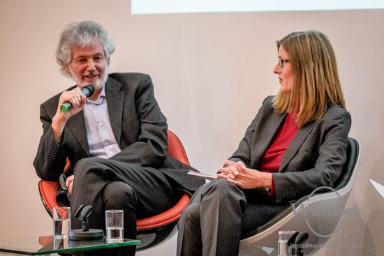Prof. Martin zur Nedden - Direktor des Deutschen Instituts für Urbanistik (l.) und Dr. Claudia Perren Direktorin der Stiftung Bauhaus Dessau