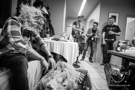 Affentanz, Feuerwache Magdeburg, Backstage –  Foto Wenzel-Oschington.de