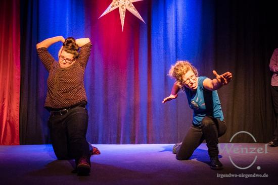 Improvisationstheater, Tapetenwechsel, Volksbad Buckau –  Foto Wenzel-Oschington.de
