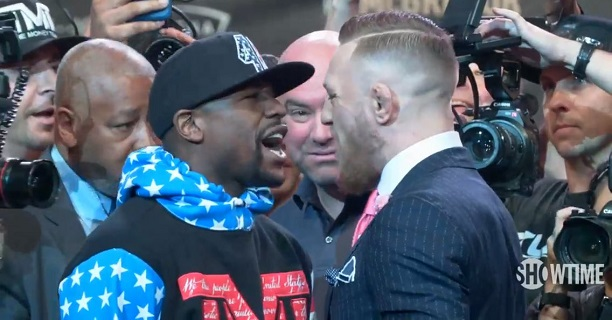 mayweather mcgregor face off