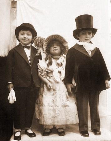 Vintage photo - triplets