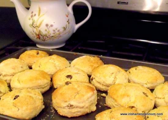 A tray of Irish scones