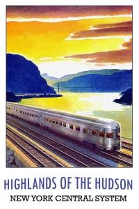 Vintage New York Train Travel Poster
