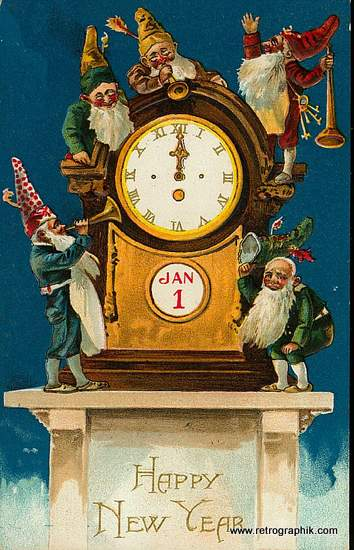 New Year Midnight Clock