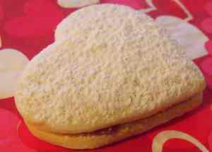 Almond Heart Raspberry Cookie Sandwiches