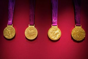 http://commons.wikimedia.org/wiki/File:2012_Olympic_Medals.jpg