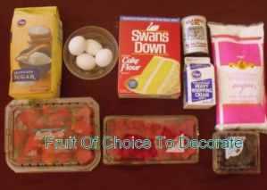 Ingredients for Irish Fruit and Cream Flan