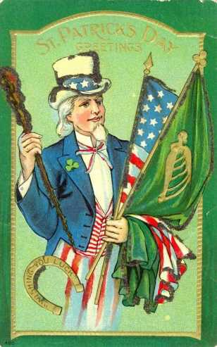 Vintage Irish American St. Patrick's Day Card