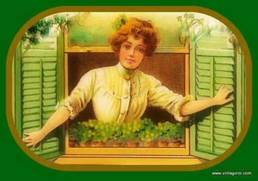 Irish Mother In Window from Vintagerio.com