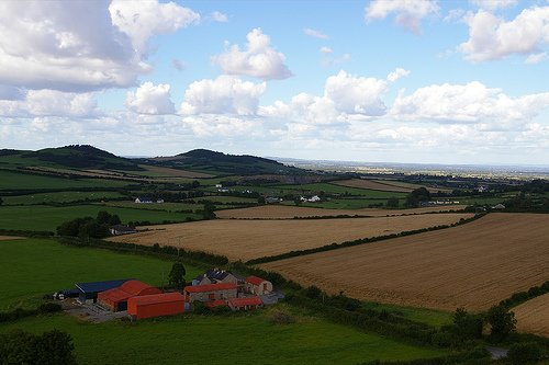 View of County Laois from the Rock of Dunamase