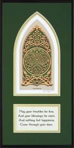 Celtic House Blessing in Green