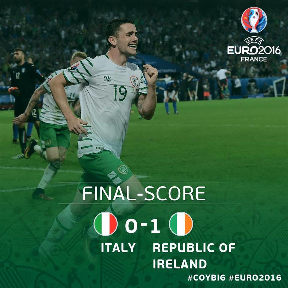 2016 euro - ireland v italy win