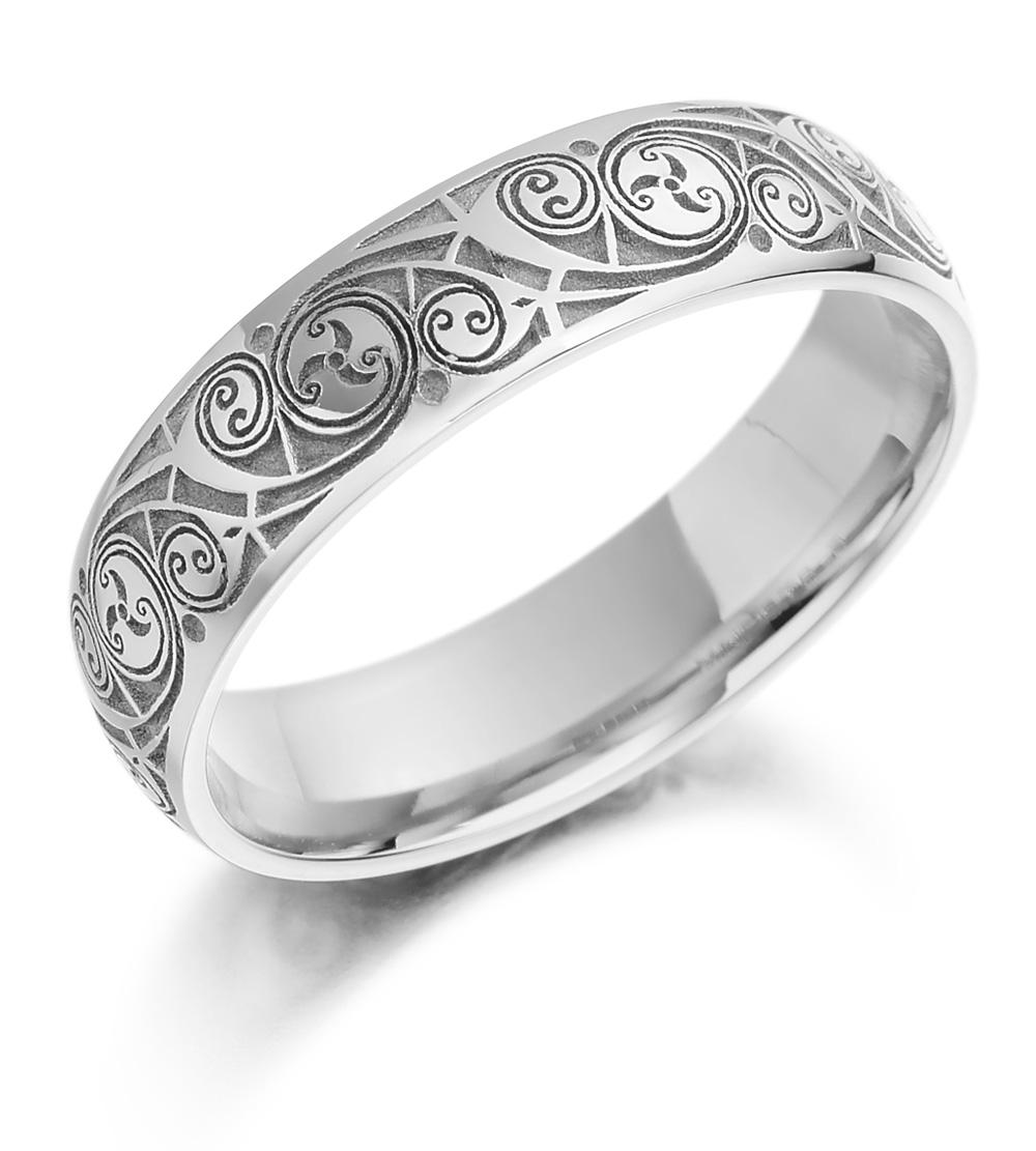 celtic wedding ring ladies gold celtic spiral triskel irish wedding band gold wedding bands Celtic Wedding Ring Ladies Gold Celtic Spiral Triskel Irish Wedding Band