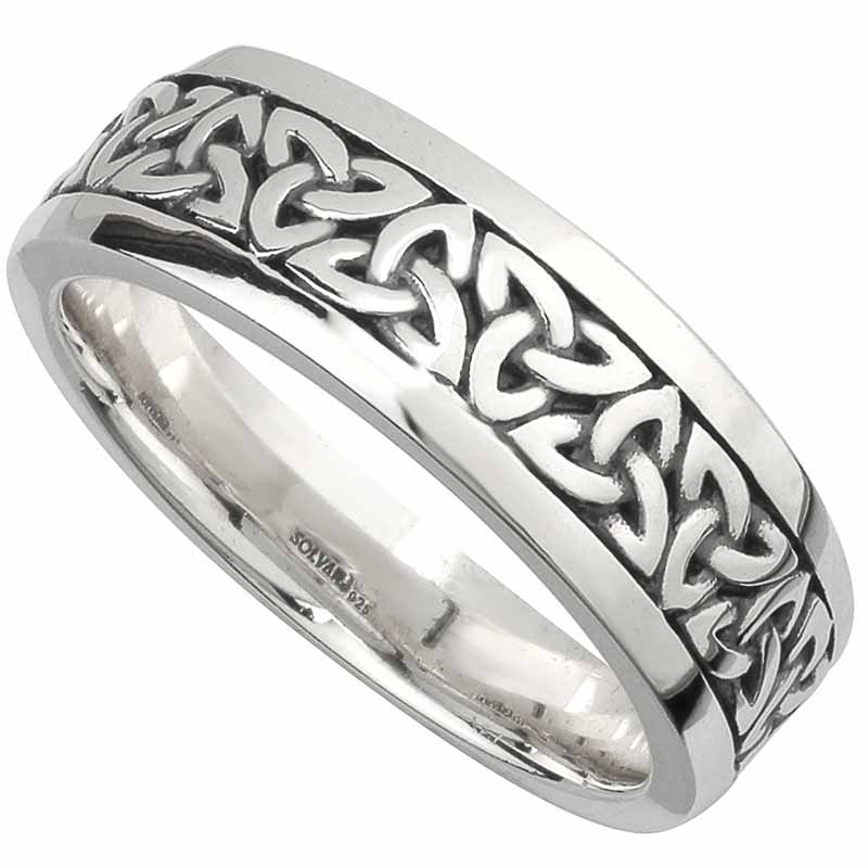 irish wedding rings bands celtic wedding rings irish wedding rings Irish Wedding Band Sterling Silver Mens Celtic Trinity Knot Ring