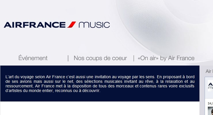 air france music playlists a380