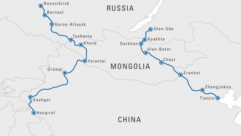 map russia mongolia