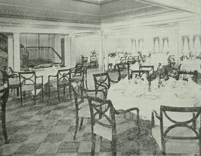 Εικόνα από την αίθουσα του εστιατορίου της πρώτης θέσης