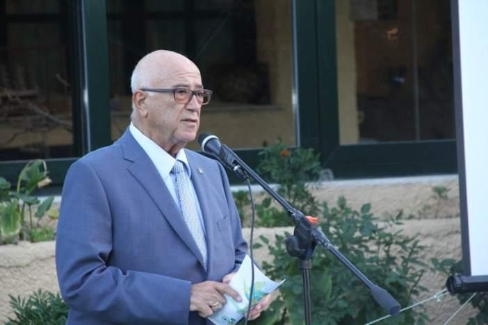 Ο Καπτ. Παναγιώτης Ν. Τσάκος χαιρετίζει την εκδήλωση